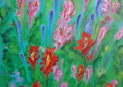Květy v trávě